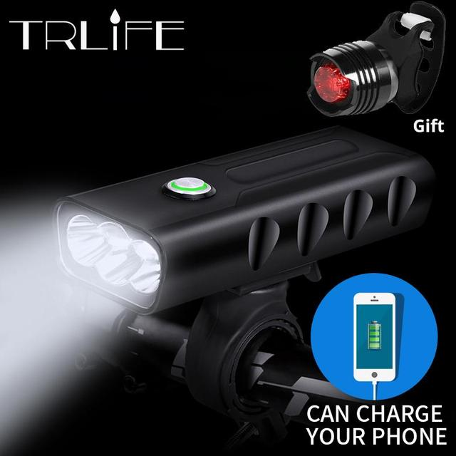 Bicycle Rechargeable Headlight with Tail Light (3 Modes)