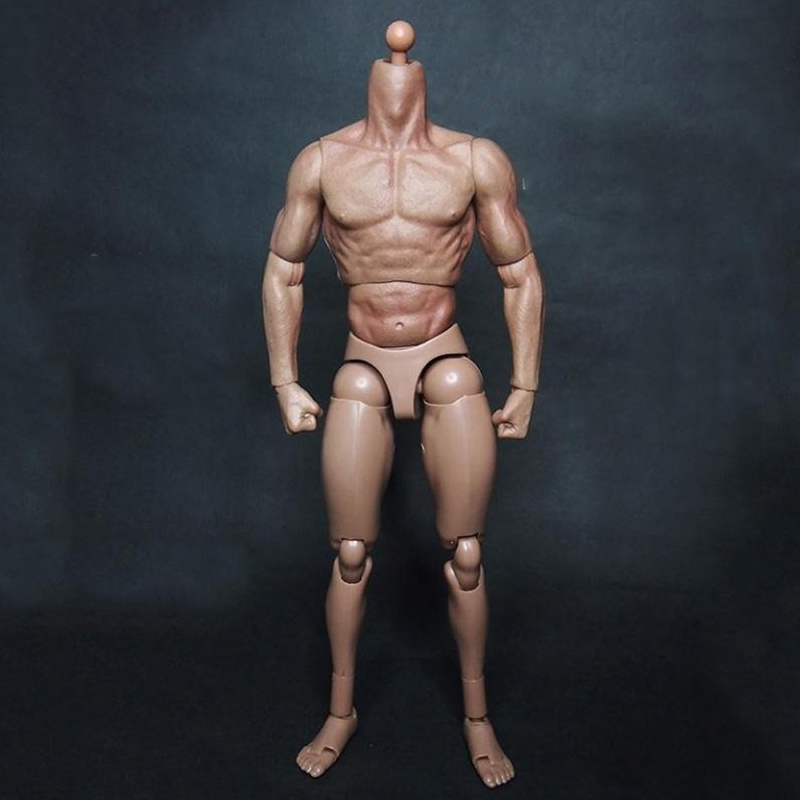 1:6 <font><b>Scale</b></font> Male Body <font><b>Figure</b></font> Military Chest Muscular Body Similar to TTM19 for X-man wolverine logan 12