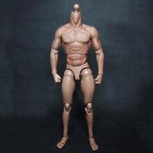 """1:6 ölçekli erkek vücut figürü askeri göğüs kaslı vücut benzer TTM19 için 12 """"aksiyon figürü oyuncakları"""