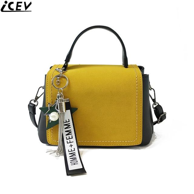 daa2b98d6867 Icev Ретро ранцы коробка ручная сумка небольшой скраб квадратные сумки для  женщин со вставками сумка дизайнер