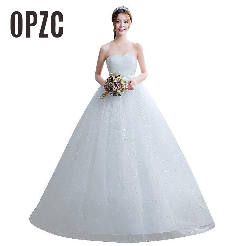 Real Photo Custom Made Wedding Dresses 2020 Korean Simple Lace High Waist Maternity Bridal Gown Vestido De Noiva Pregnant Women