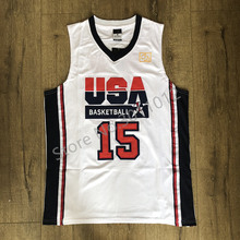 d2238893e Mens  15 Magic Johnson 1992 Dream Team USA Basketball Jersey S-XXL