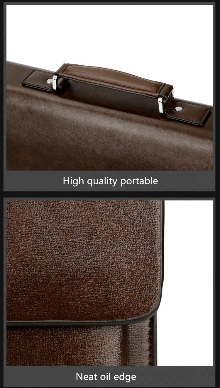2019 Business Man Bag Theftproof Lock Cowhide Leather Briefcase For Man Solid Bank OL Mens Briefcase Bag Dress Man Handbag