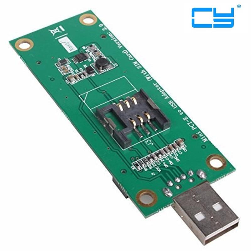 Mini PCI-Express pcie pci express PCI-E Wireless WWAN to USB Adapter Card with SIM Card Slot Module Testing Tools