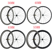 Disc Brake Carbon Wheelset 30/40/45/55 No Braking Surface Center Lock Road Bike Clincher Carbon Wheels