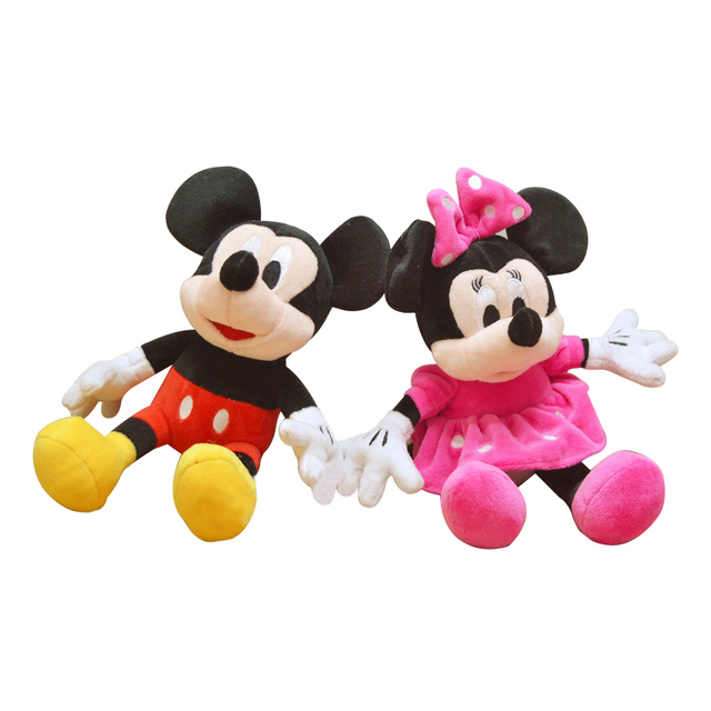 1pc 28cm Cute Mickey Mouse and Minnie Mouse Stuffed Soft Cartoon character Plush Toys Kids baby Love Dolls Classic Gifts