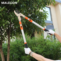 MALELION New Garden Tools Vigorously Cut Manganese Steel Portable Garden Scissors Labor Saving Telescopic High Branch Scissors