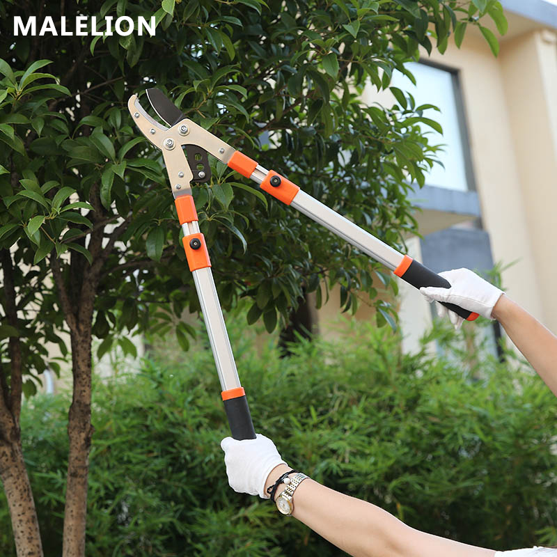 MALELION Nouveau Jardin Outils Vigoureusement Cut Manganèse Acier Portable ciseaux de jardin Du Travail-Économie Télescopique Haute Direction Ciseaux