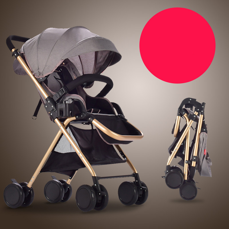 Baby cart super lightweight folding can sit on a crumbo of high-end landscape parachute for free delivery in summer and winter the baby stroller of the aimile can sit on a bb cart in the four seasons of high landscape folding