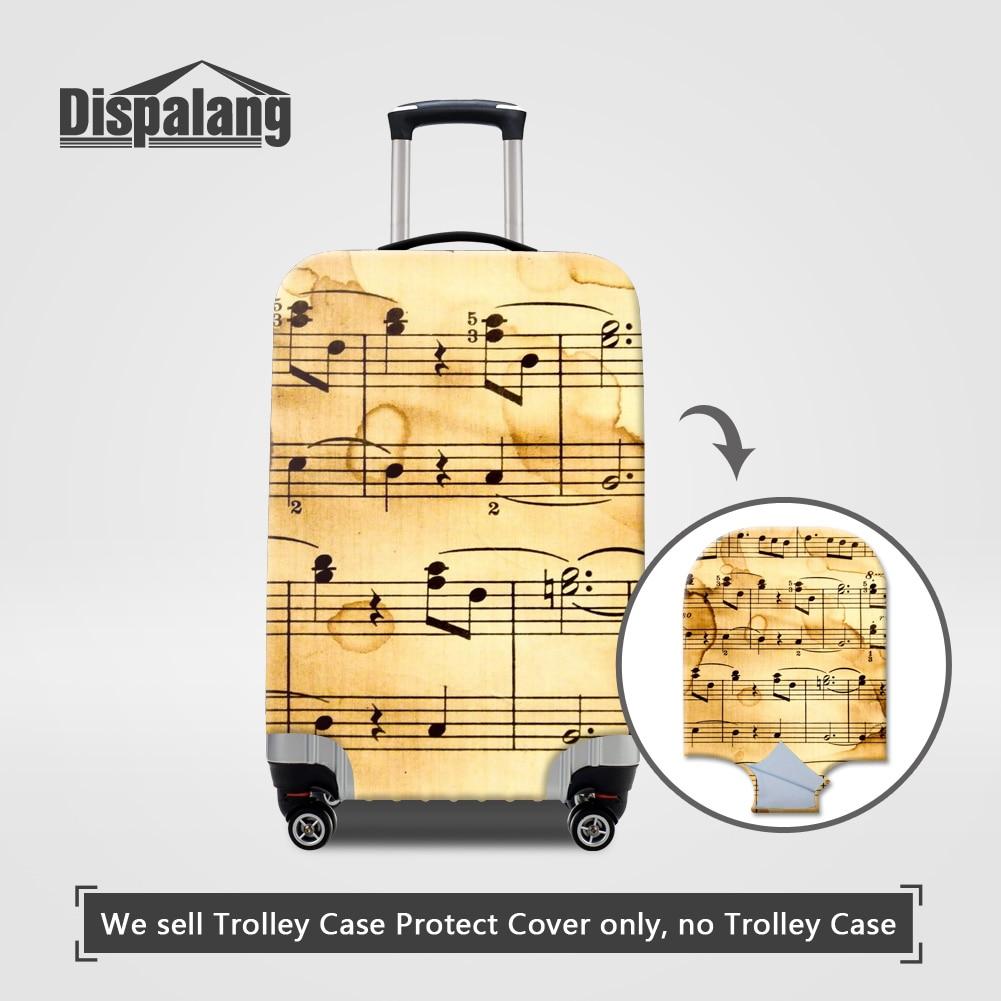 Dispalang 3D Nota Musical Impressão Caso Na Mala Para Bagagem de - Acessórios de viagem - Foto 1