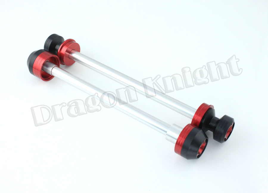 Motorcycle accessories For Ducati 848/EVO 2010-2013 Front & Rear Wheel Fork Slider Protector Red