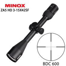 Jacht MINOX ZA 5 HD 3-15x42 SF BDC 600 Richtkruis RifleScopes Side Parallax Aanpassing Lange Eye Relief Tactical Scope Optische(China)