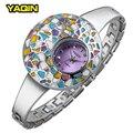 New Brand YaQin Watch Colorful Unique Female design Fashion Design Full Steel Quartz Wristwatch Casual Bracelet Women Relogios