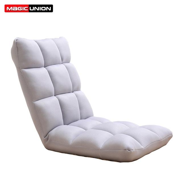 União mágica Dobrável Sofá Beanbag Cama Morden Cadeira Mobília da Sala de estar Sofá Preguiçoso Sofá Sofá Janela do Chão Para Dormir Ajustável
