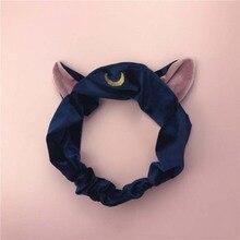 Kawaii Headband Sailor Moon Water Ice Headwear Cat Ears Hairband Korea Sweet Washing Makeup Yoga Hair Band