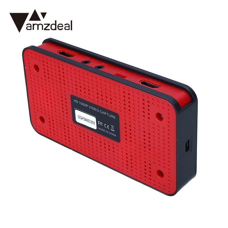 amzdeal Grabber Recorder Box USB HDMI YPBPR 1080P Input HD Game Capture Grabber Recorder Box for EZCAP 284 Black UK Plug упоры для отжиманий atemi металлические apu 02