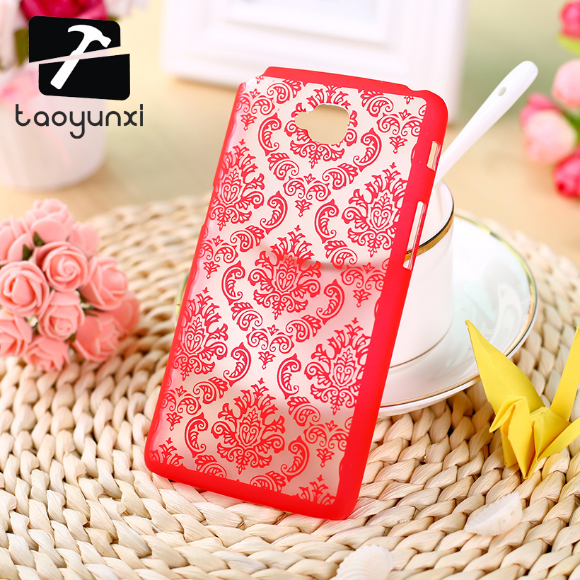 TAOYUNXI Hard Plastic Phone Case For LG G Pro Lite Case D680 5.5 Dual Sim D686 D685 D684 Cover Vintage Flower Clear Retro Case