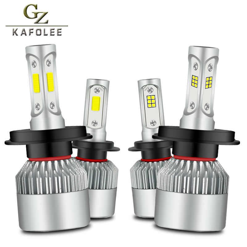 Gzkafolee фар автомобиля H7 H4 светодиодный H8 H9 H11 H1 H3 H13 HB3 HB4 9005 9006 9007 S2 удара csp 12 В 24 В 6000 К 72 Вт 2psc Авто Headlam лампы