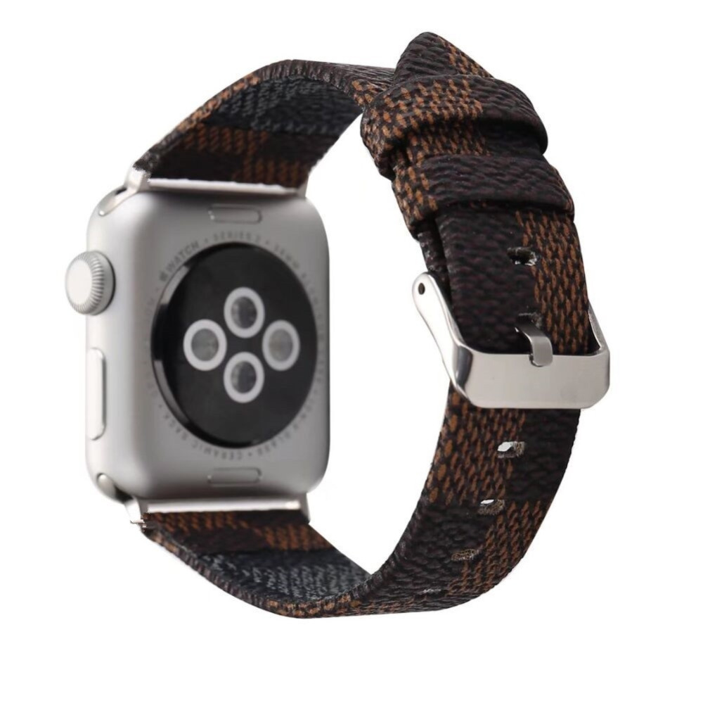 Genuine Leather Band for Apple Watch Series 2 1 Strap for iWatch  Classic Watchband 42mm 38mm With Adapters Double-sided leather смарт часы apple watch series 2 38mm