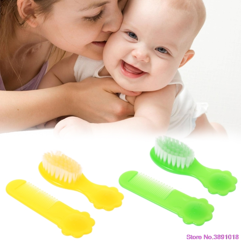 New 1 Set Baby Brush Comb Hair Head Massage Nylon Soft Round Tip Newborn Kids Care