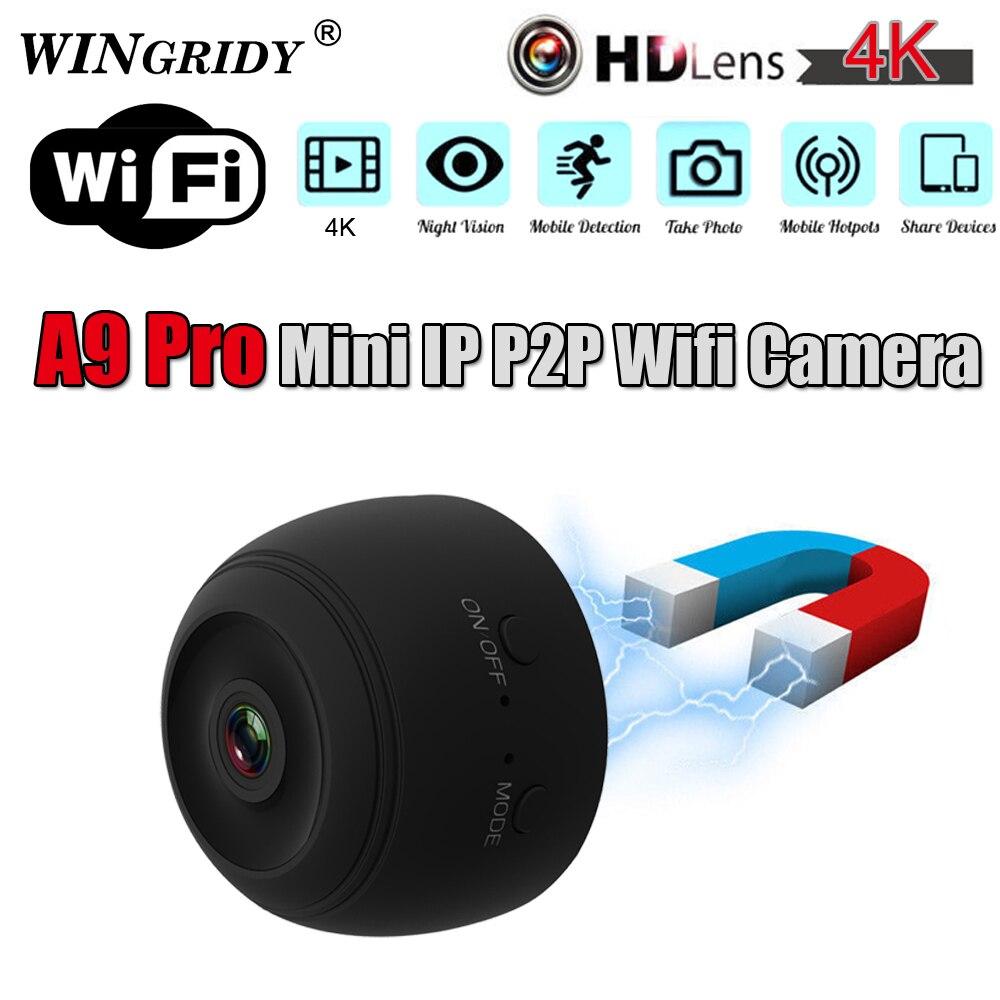 Original A9 PRO P2P IP Mini Cam WIFI Kamera FULL HD 4 K 1080 P Nachtsicht Motion Erkennung CMOS sensor Recorder Camcorder Micro