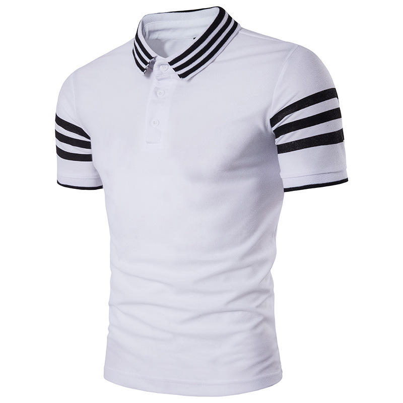 Brand New Men's   Polo   Shirt Stripe Men Cotton Short Sleeve Business   Polo   Shirts Jerseys Summer Man Casual   Polos   Shirts B100