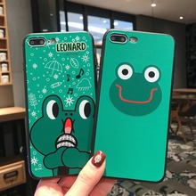 For iPhone X XR XS Max Cases Cute Big Eye Frog Soft TPU Silicone Shell For iPhone 6 6S 7 8 Plus Cover Phone Cases Capa Coque цена и фото