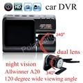 Lente Dual Videocámara I1000 DVR Del Coche Auto de La Cámara HD 1080 P Dash Cam visión nocturna Registrador de la Conducción Con Cámaras Traseras Allwinner A20