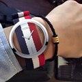 DOM Brand Watch Women  Luxury Fashion Casual Quartz Unique Stylish Hollow Skeleton Watches Nylon Sport Lady Wristwatches