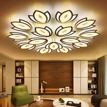 modern led acrylic chandelier lighting avize lustres with remote control lamparas de techo colgante moderna vintage home decor