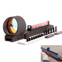 Tactical Circle Red Dot Fiber Sight 1X28 Collimeter Light Condutor Reflex Sight Fit 11mm Mount Shotgun