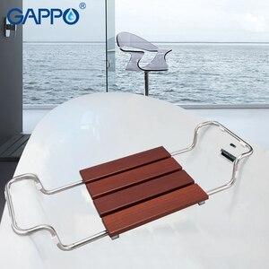 GAPPO 벽걸이 식 샤워 의자 접이식 샤워 의자 화장실 욕조 벤치 샤워 꼭지 욕조 욕조 믹서 강우 샤워 세트