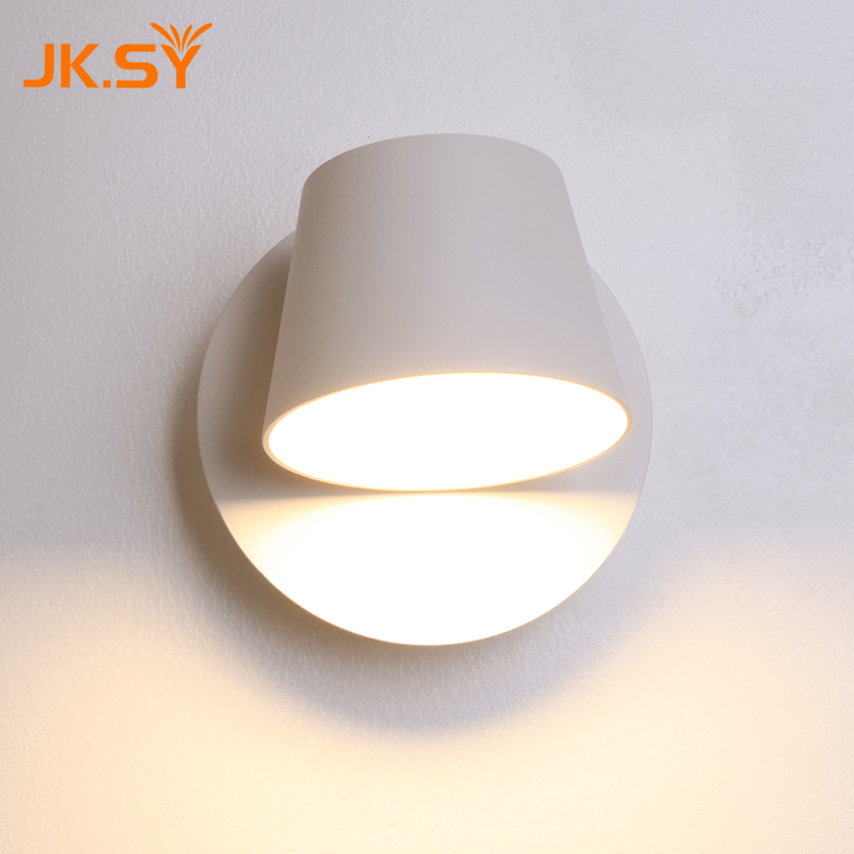 Modern Round Cup Wall Lamp Direction Adjustable Indoor LED Wall Lights Bedside Lamp for Bedroom Living Room