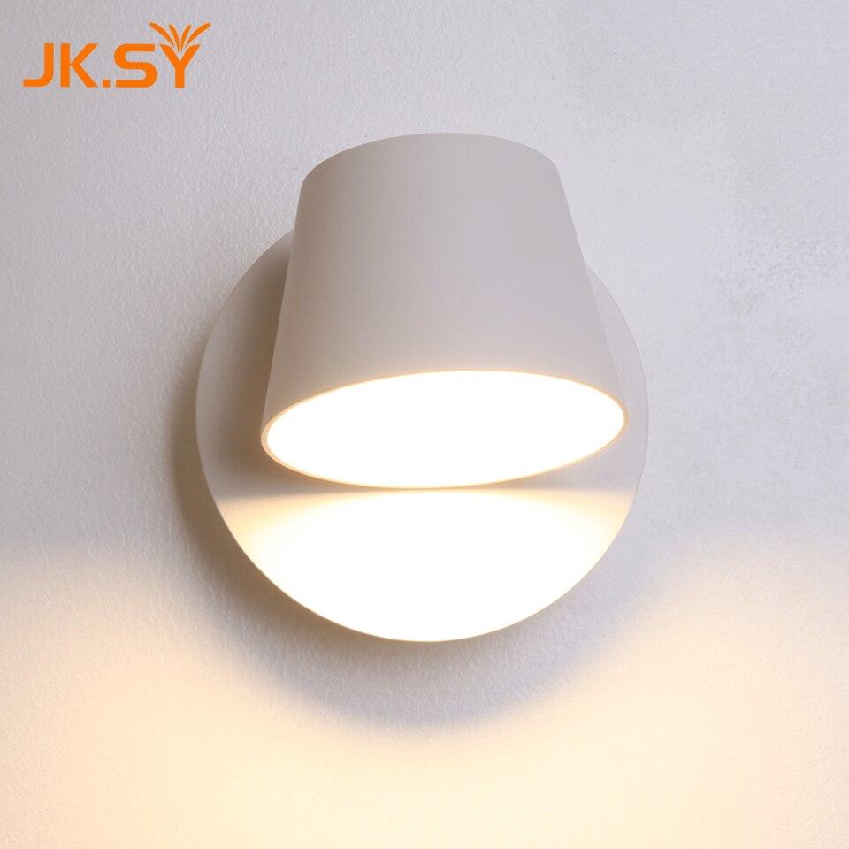 Moderne Rond Tasse Mur Lampe Direction Réglable Intérieur LED Appliques Murales Lampe De Chevet pour Chambre Salon