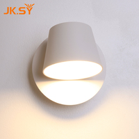 Modern Round Cup Wall Lamp Direction Adjustable Indoor LED Wall Lights Bedside Lamp For Bedroom Living