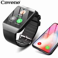 Bluetooth montre intelligente Smartwatch DZ09 Android appel téléphonique Relogio 2G GSM SIM TF carte caméra pour iPhone Samsung HUAWEI PK GT08 A1