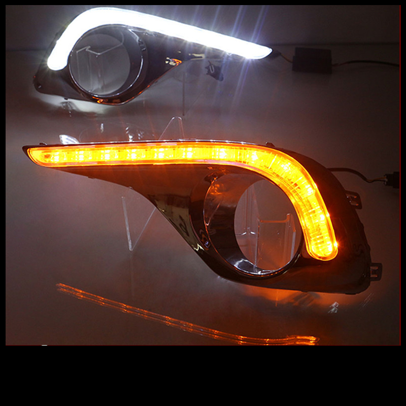 Tcart 2012-up 12 LED white DRL with Aluminum rear cover For Highlander toyota Daytime Running Light Lamps Free Shipping free shipping hot selling 1m pcs led aluminum profile for led strips with milky or clear cover and end caps clips
