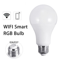 E26 E27 10W RGB Wireless WiFi LED Smart Light Bulb Lamp For Echo For Alexa AC110V