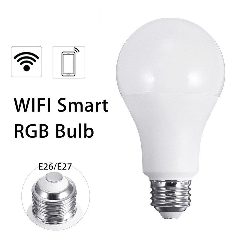 E26 E27 10W RGB Wireless WiFi LED Smart Light Bulb Lamp for Echo for Alexa AC110V 2700K RGB smart bulb e27 7w led bulb energy saving lamp color changeable smart bulb led lighting for iphone android home bedroom lighitng