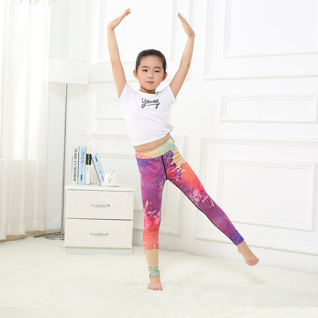 Girl's Rainbow Yoga Leggings