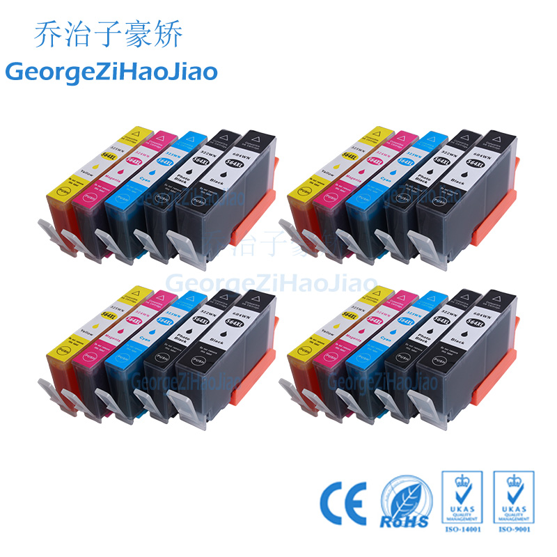 4SETS 564XL ink cartridge Compatible HP <font><b>564</b></font> <font><b>XL</b></font> 564XL for HP Photosmart 5510 5514 5515 5520 printer image