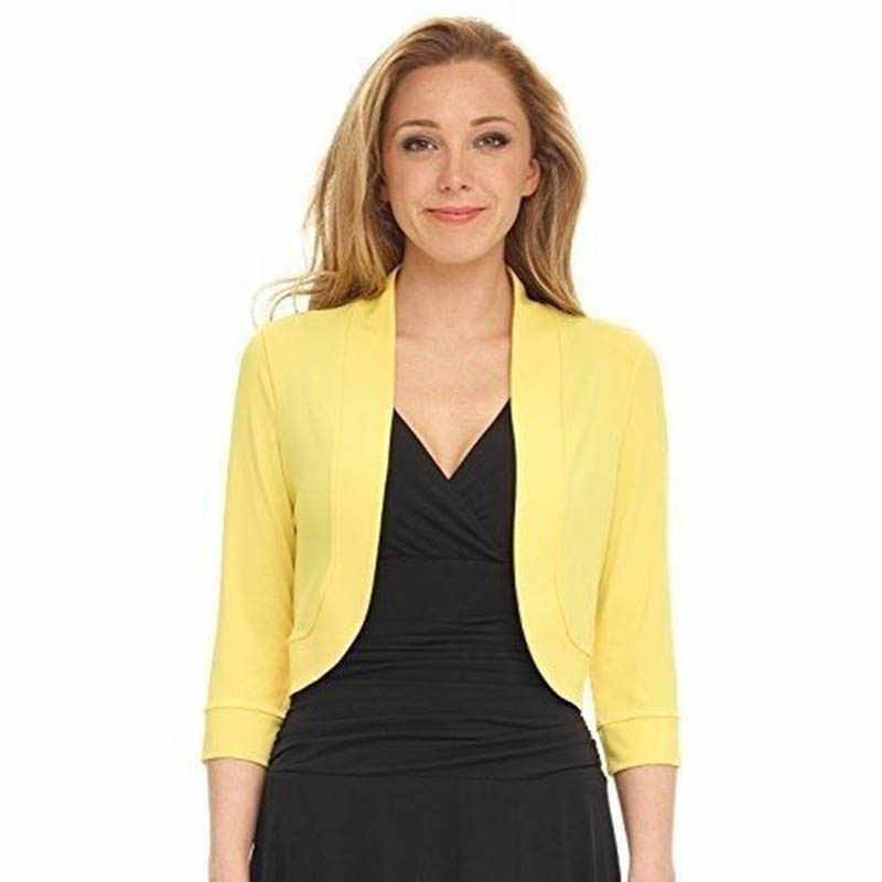 e2758bb73e ... Casual Outwear Business Attire Plus Size Cardigan Short Coat For Women  Long Sleeve Skinny Knitting Ladies ...