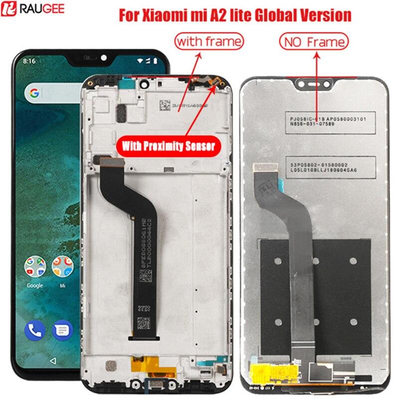 Lcd için xiaomi mi mi A2 Lite Lcd ekran çerçeve ile sayısallaştırıcı ekran dokunmatik ekran değiştirme için xiaomi mi mi A2 lite A2Lite ekran