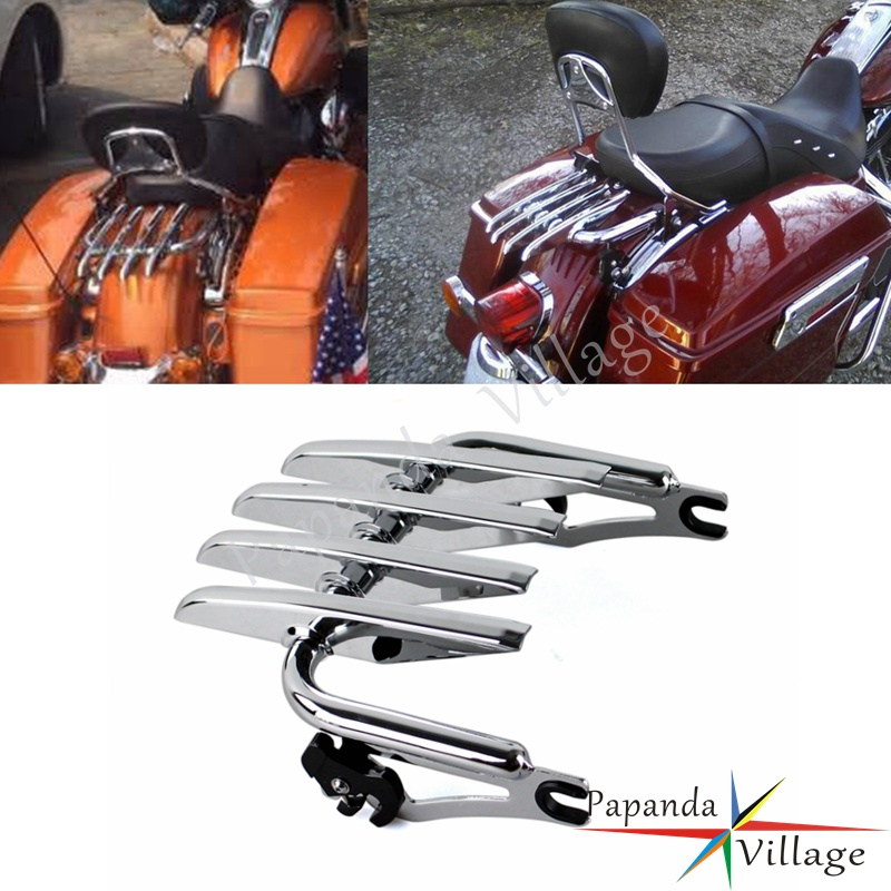 2 Up Pack Air Wing Luggage Rack W/ Light For Harley Touring Street Road Glide Ultra Classic Fltr Flhx Carrier Systems Automobiles & Motorcycles