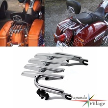 Chrome Detachable Stealth Luggage Rack Tour Pack for Harley Touring Road King Street Electra Glide FLHR FLHX FLHT FLTR 09-15 detachable stealth luggage rack for harley touring electra glide road king street glide touring 2009 2016 motorcycle