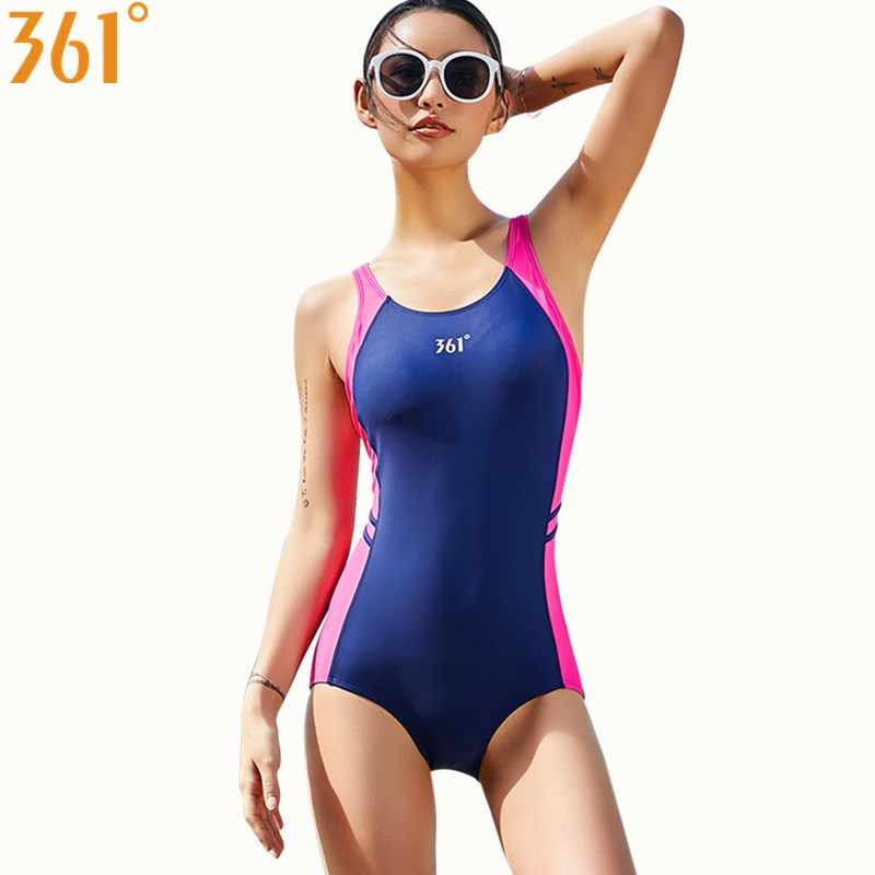 818fd0aa65120 361 One Piece Swimsuit for Women Athletic Competition Swimwear 2018 Sports  Pool Bathing Suit M-