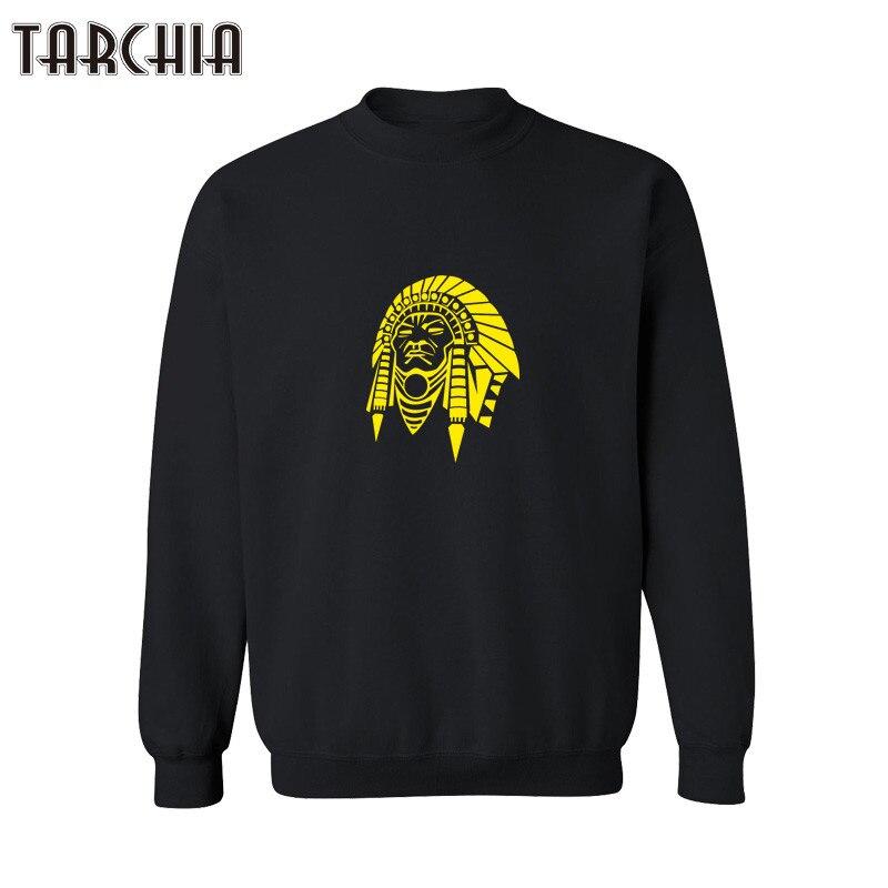 TARCHIA Indian Print 2018 New Fashion Men Hoodies Printing Pullover Crewneck Sweatshirt New Winter Plus Size XS-XXL