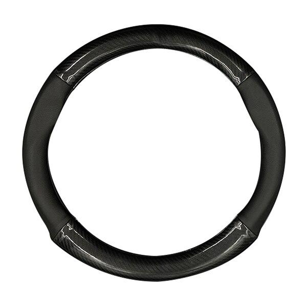 HOCASEN Car carbon fiber leather 4 quarter steering wheel cover For Mercedes-Benz