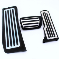 3pcs No Drill Gas Fuel Brake Footrest Foot Pedal Plate Cover For Cadillac ATS ATS V Sedan / Coupe 2013 2014 2015
