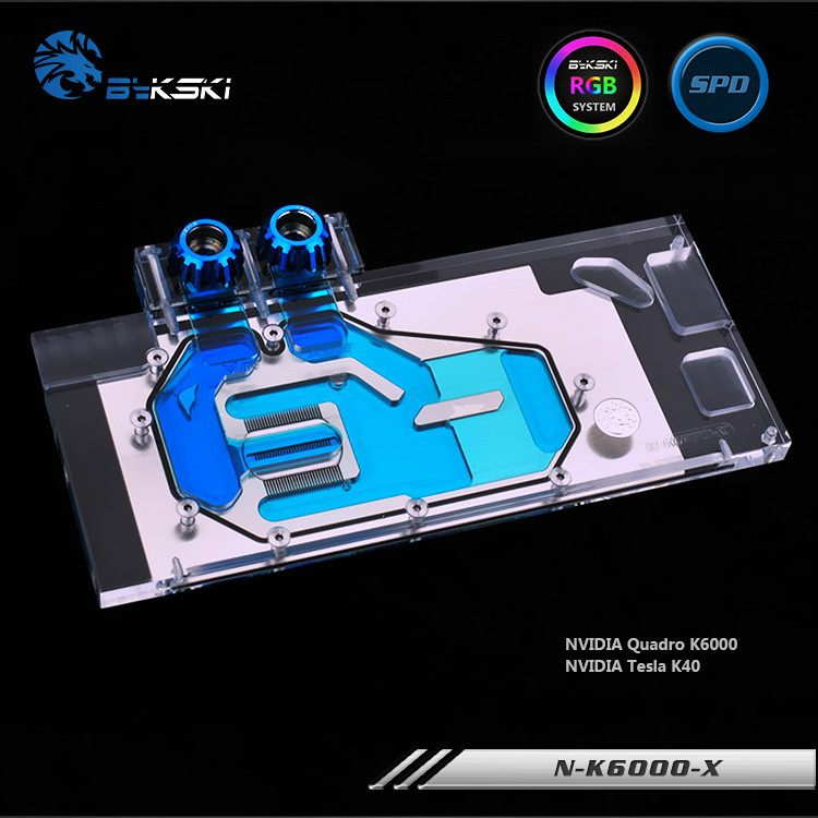 Bykski N-K6000-X Full Cover Graphics Card Water Cooling Block RGB/RBW for NVIDIA Quadro K6000 Tesla K40